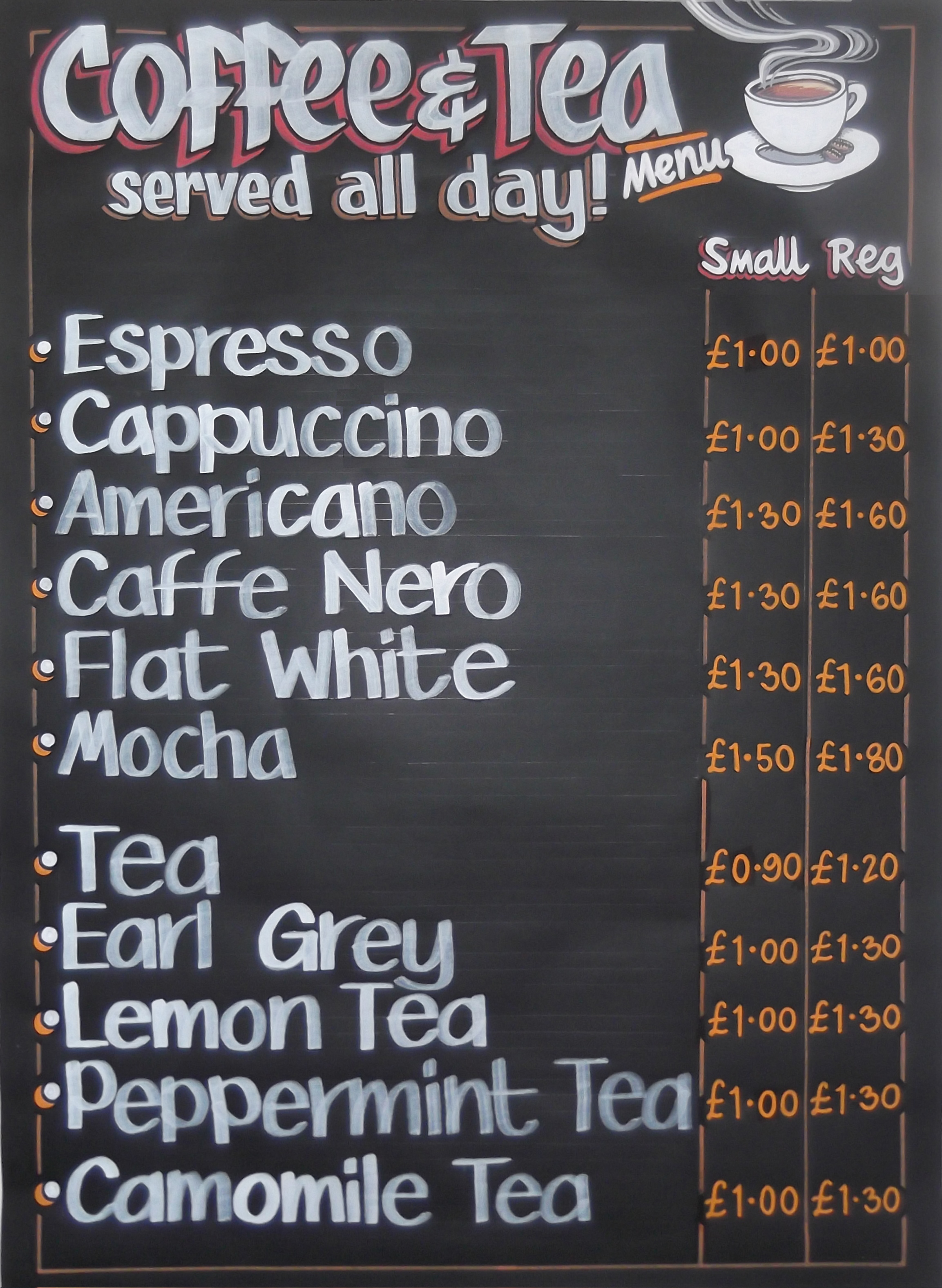 fresh london chalkboards | ngs chalk boards - cafe's bars pubs